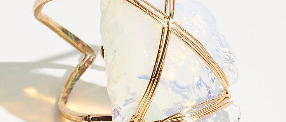 Opal Coyote Arrow Ring