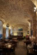 Brick vault ceiling Italian restaurant