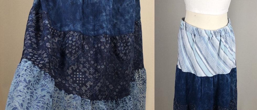 Beautiful Blue Patchwork Skirt