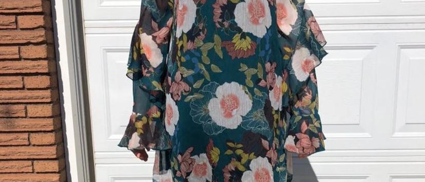 Medium Floral High Neck Tunic Dress