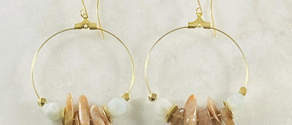 Ezra Sunstone + Aquamarine Earrings