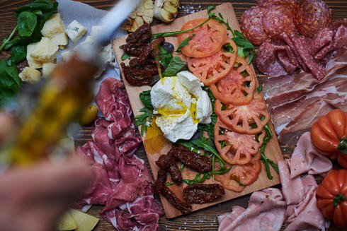 Cold cut and cheese plate