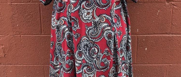 Amazing Paisley Mock Neck Dress