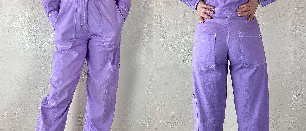 Lavender Button-Up Coveralls
