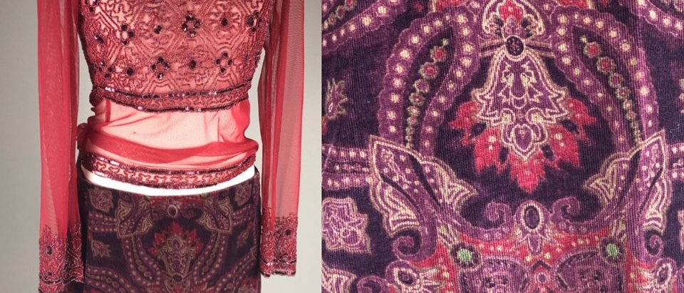 Intricate Corduroy Skirt