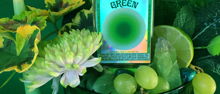 Green Vibrational Color + Gemstone Mist