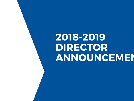 SBSS Announces Directors for 2018-2019