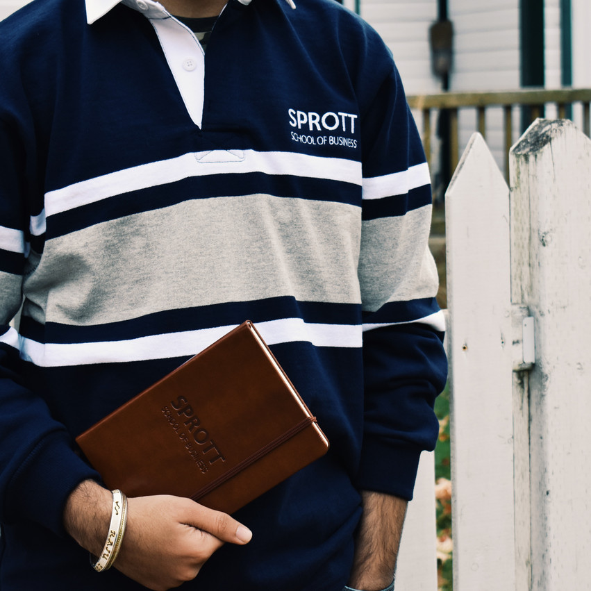 Sprott Rugby Sweater & Notebook