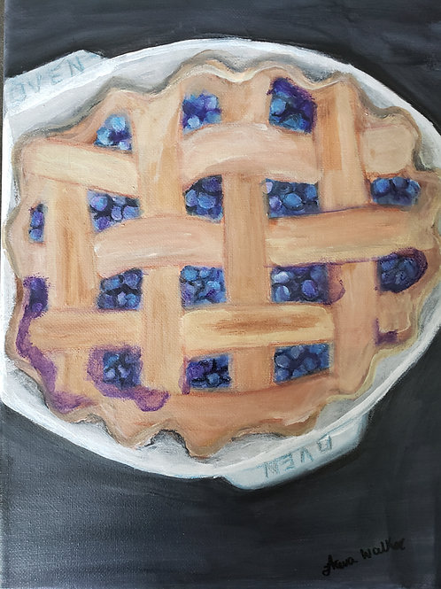 Blueberry Pie Painting