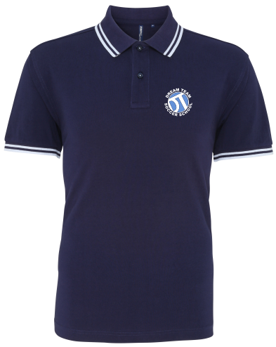 DTS Men's Classic Fit Tipped Polo