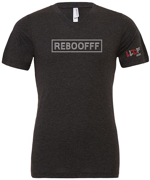 LLDF REBOOFFF - V Neck CHARCOAL T-Shirt
