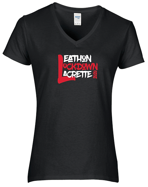 Leathon Lockdown Lacrette V-neck T-shirt