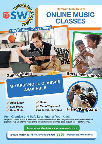 Online Music Class Poster