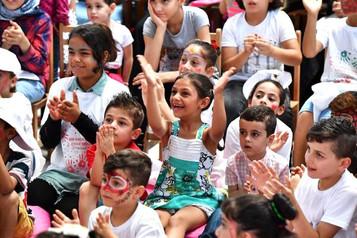 İzmir'de mülteci çocuklar için şenlik