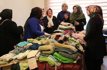 Eskişehir'de mültecilere örnek yardım