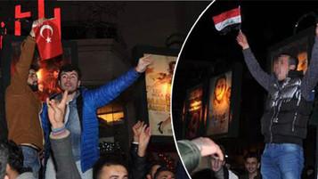 Eskişehir'deki yılbaşı kutlamalarında Suriye bayrağı açılması gerginliğe yol açtı