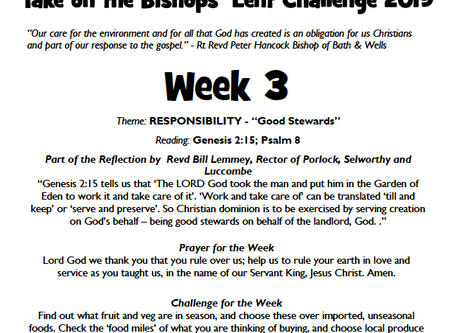 Join us with The Bishops' Lent Challenge