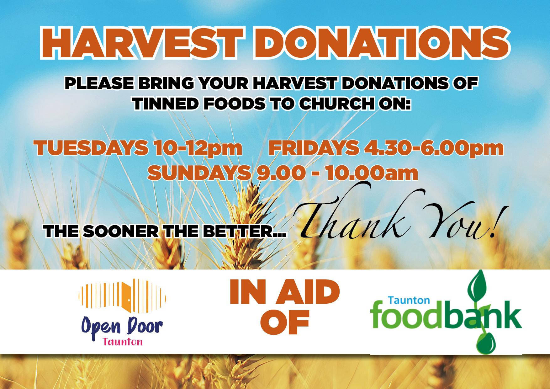 Harvest Donations