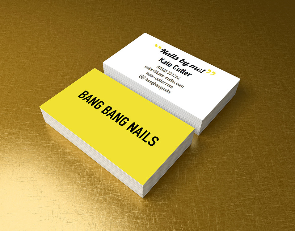 Bang Bang Nails Business Card
