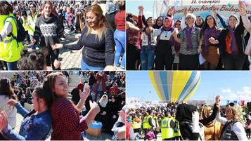 """Mülteci Kadın Bohçası"""" Avanos'ta Sergilendi"""