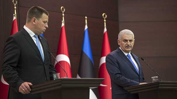 Başbakan Binali Yıldırım ile Estonya Başbakanı ve Avrupa Birliği (AB) Dönem Başkanı Juri Ratas