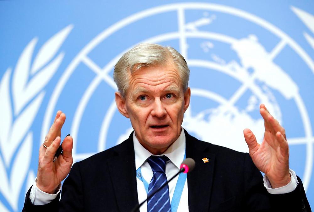 United Nations Syria envoy's Special Adviser Jan Egeland