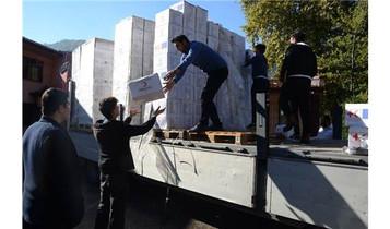 Zonguldak'a son iki ayda gelen 1800 Afgan ve Uygur mülteciye iki tır dolusu yardım ulaştırıldı