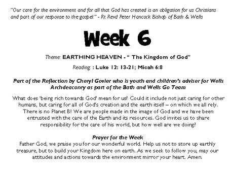 Last week for the Bishop's Lent Challenge