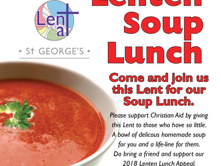 Lenten Soup Lunch for Christian Aid