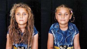 Mülteci çocukların da saçı güzel olsun