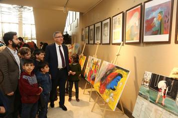 Suriyeli ve Türk çocukların sergisi açıldı