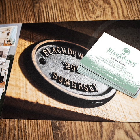 Blackdown Shepherd Huts Business Card