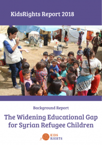 KidsRights Report reveals the alarming decline in access to education for Syrian refugee children