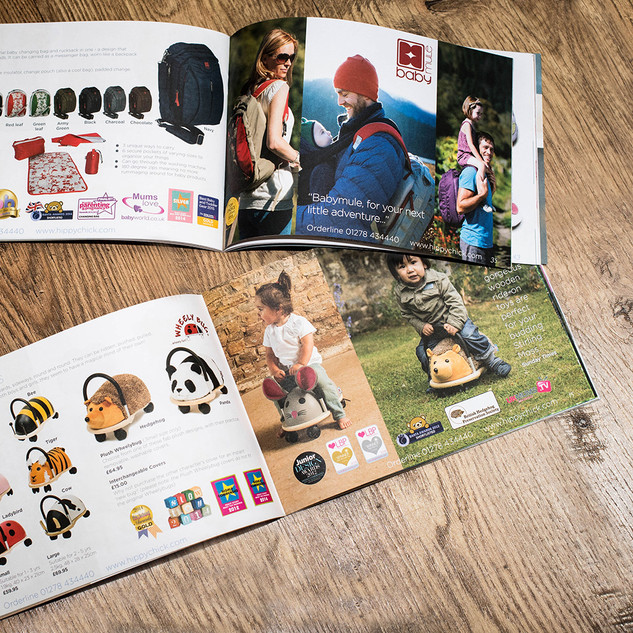 Inside Spread of Hippychick Catalogues