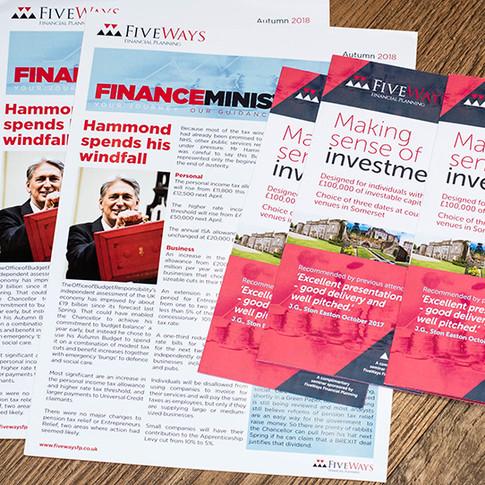 Fiveways Financial Planning Newletter