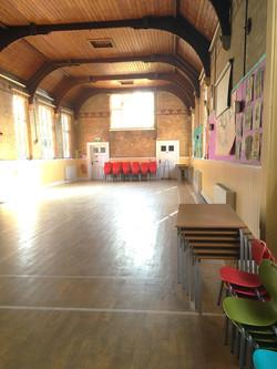 Hall facing the doors