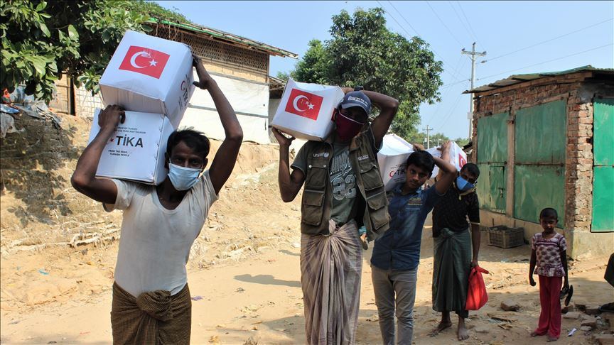TIKA distributes food items to Rohingya refugees