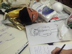 Making puppets: 3