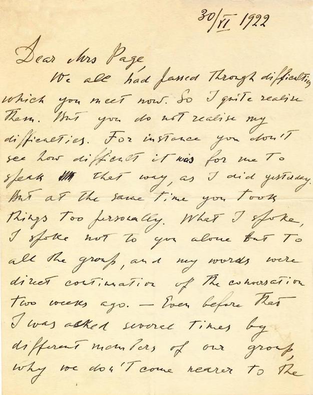 Letter from Ouspensky