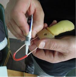 Making puppets: 4