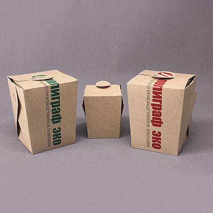 Контейнер бумажный для горячих блюд