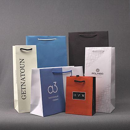 Пакеты бумажные с вашим логотипом