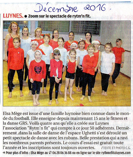Article danse grs luynes association
