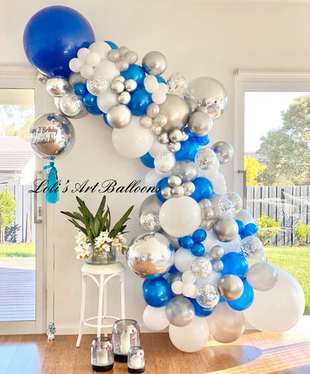 21st balloon garland for Boy