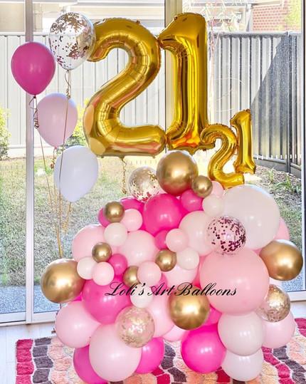 21 birthday balloon bouquet