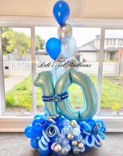 10th Birthday Grand Balloon Bouquet