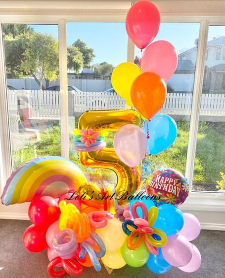 5th Birthday Grand Balloon Bouquet