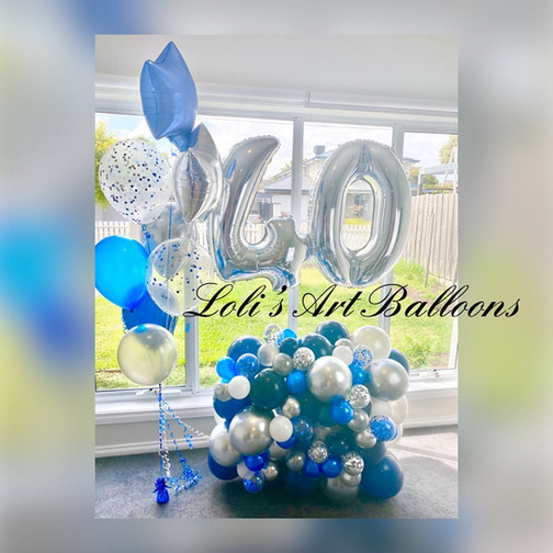 40 birthday balloon bouquet