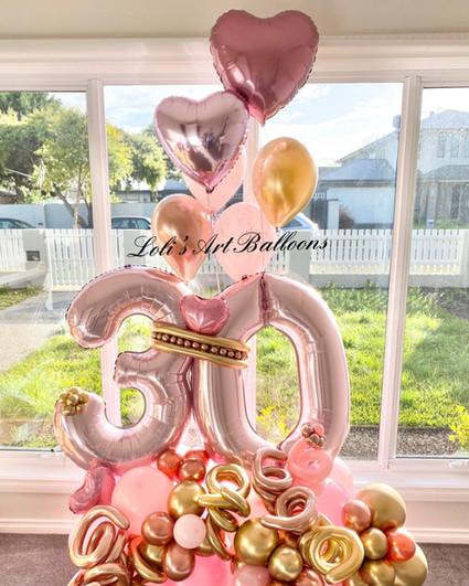 30th Birthday Grand Balloon Bouquet