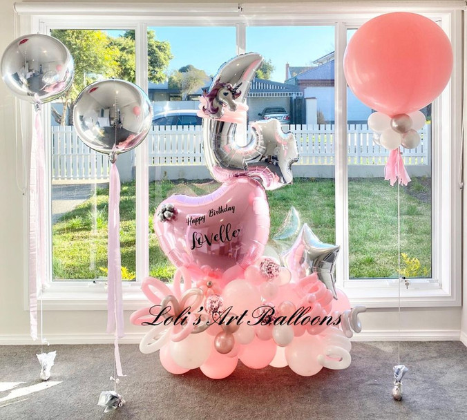 Grand Balloon Bouquet Personalized